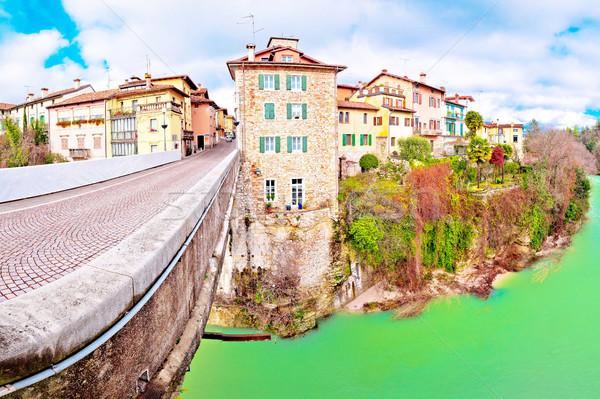 Puente río canón pan panorámica vista Foto stock © xbrchx