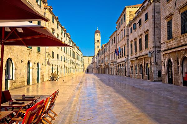 Famoso rua dubrovnik ver região Croácia Foto stock © xbrchx