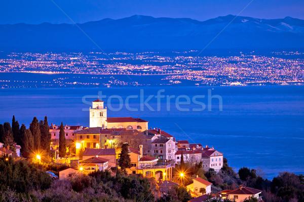 Horizonte vista pueblo cielo edificio Foto stock © xbrchx