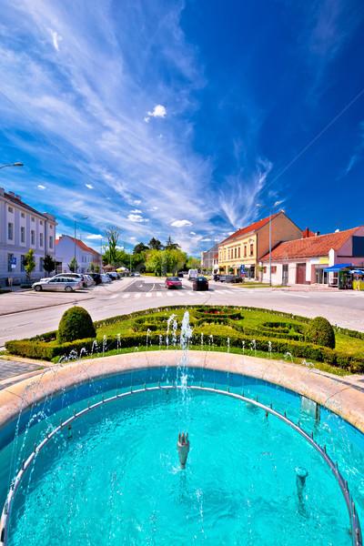町 噴水 メイン 広場 表示 地域 ストックフォト © xbrchx