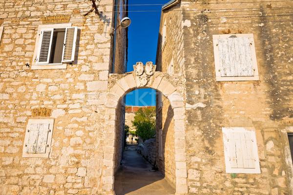 Middellandse zee dorp steen architectuur poort Stockfoto © xbrchx
