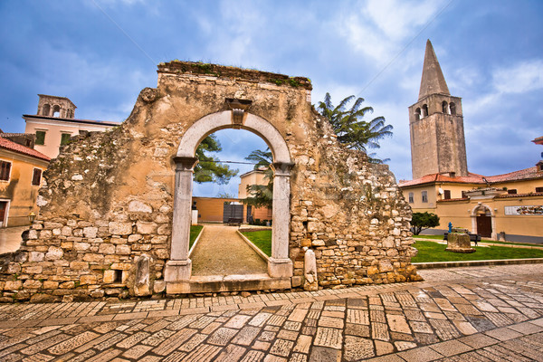 Stock photo: Old stone landmarks of Porec