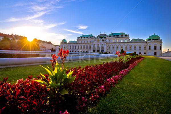 Belvedere park in Vienna sunset view Stock photo © xbrchx