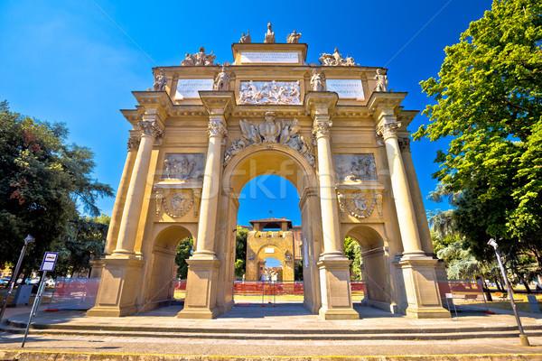 квадратный арки Флоренция Тоскана регион Италия Сток-фото © xbrchx
