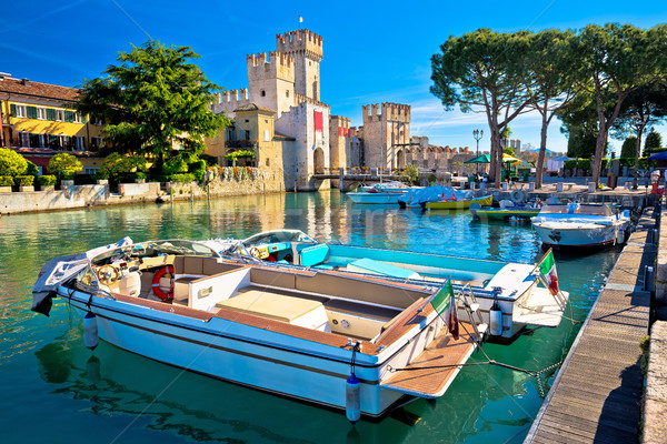 Lago di Garda town of Sirmione view, Stock photo © xbrchx
