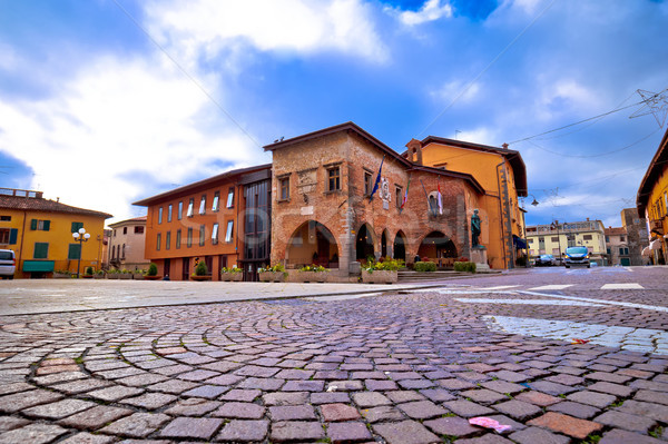 Town of Cividale del Friuli square view Stock photo © xbrchx