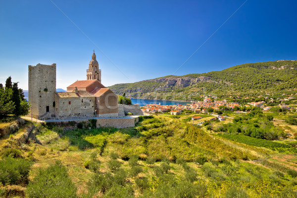 Town of Komiza on Vis island view Stock photo © xbrchx