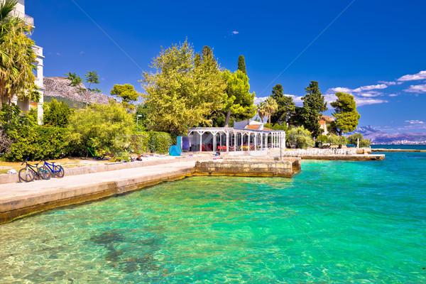 идиллический бирюзовый пляж мнение регион Хорватия Сток-фото © xbrchx