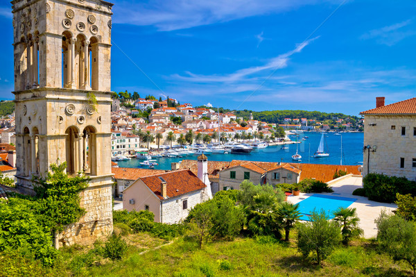 Historic Hvar architecture and waterfront view Stock photo © xbrchx