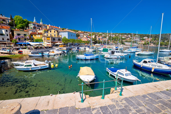 Photo stock: Idyllique · bord · de · l'eau · village · plage · ciel