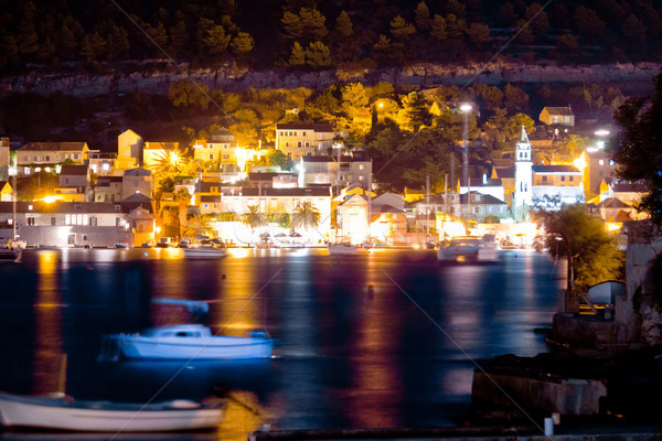 Town of Vis island evening view Stock photo © xbrchx