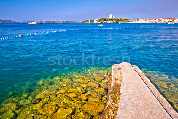 ストックフォト: 町 · 表示 · ビーチ · 地域 · クロアチア · 空