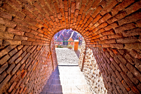 Graz walkway from upper town tunnel view Stock photo © xbrchx
