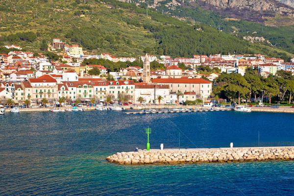 Barcos montana vista región Croacia Foto stock © xbrchx