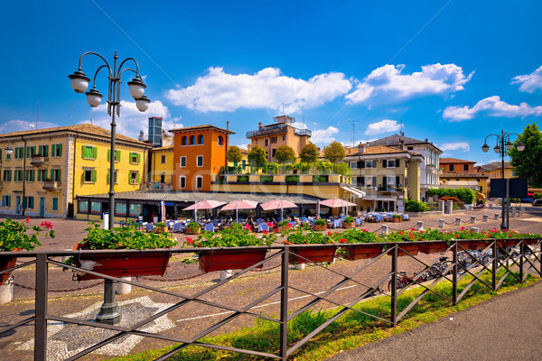 Peschiera del Garda colorful architecture view Stock photo © xbrchx