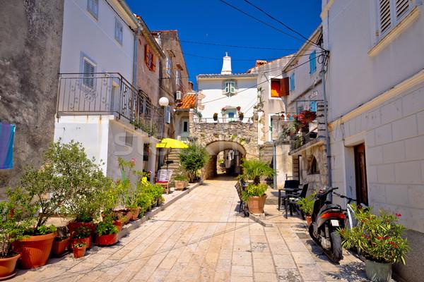 町 古い 地中海 ストリートビュー 島 クロアチア ストックフォト © xbrchx