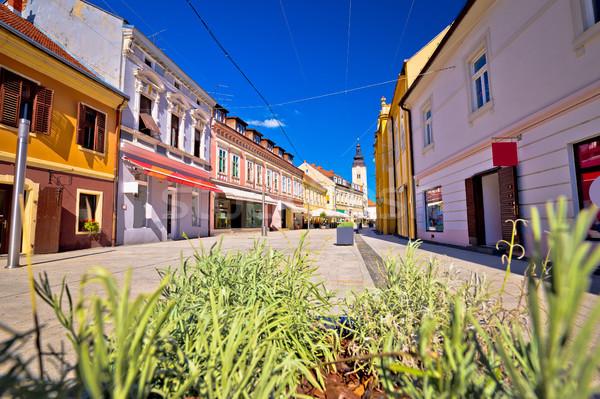 Town of Cakovec main street view Stock photo © xbrchx