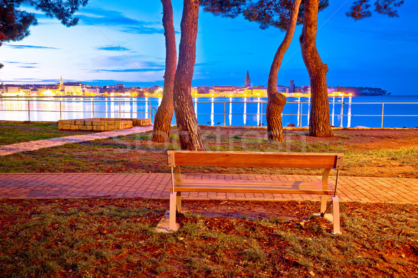 Town of Porec coast evening view Stock photo © xbrchx