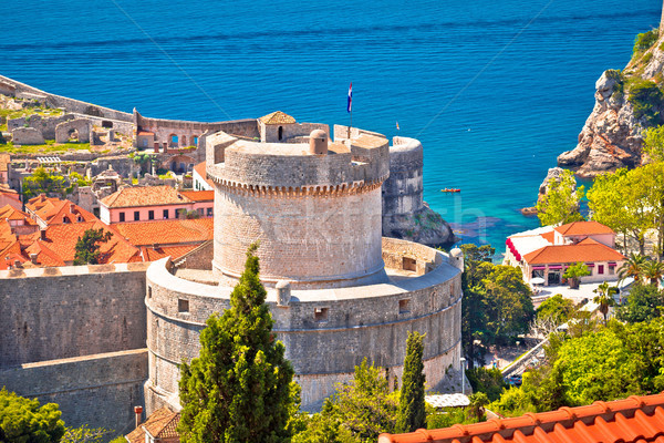 Dubrovnik walls and Minceta tower view Stock photo © xbrchx