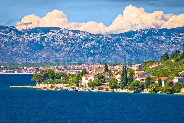 Island of Osljak, Zadar and Velebit mountain Stock photo © xbrchx