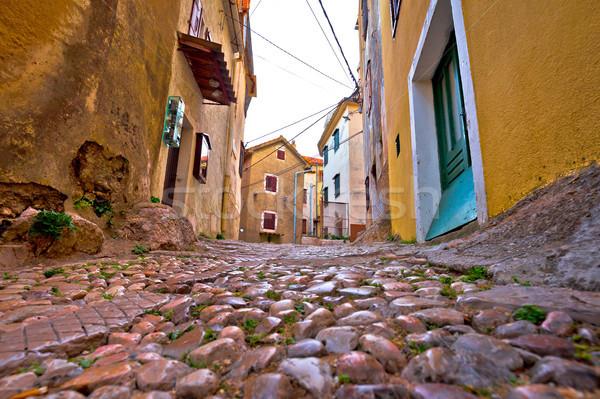 Old adriatic town Vrbnik stone street Stock photo © xbrchx