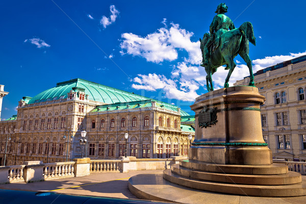 Vienna state Opera house square and architecture view Stock photo © xbrchx