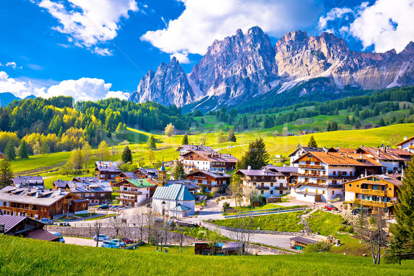 Alps landscape in Cortina D' Ampezzo Stock photo © xbrchx