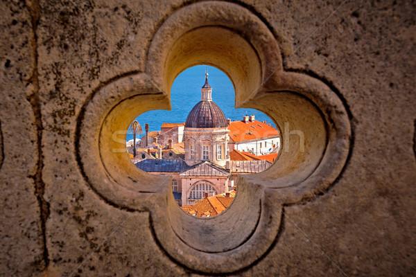 Дубровник мнение каменные подробность регион Хорватия Сток-фото © xbrchx