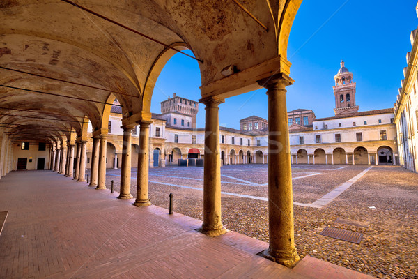 Piazza Castello in Mantova architecture view Stock photo © xbrchx