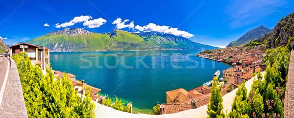 Lago di Garda panoramic view in Limone sul Garda Stock photo © xbrchx
