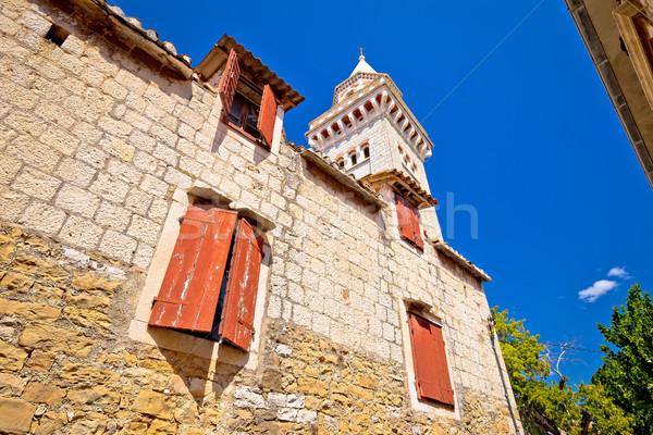 Kościoła widoku region niebo budynku słońce Zdjęcia stock © xbrchx