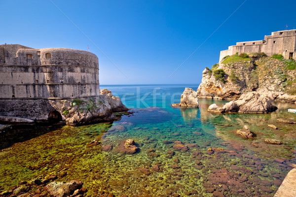 Dubrovnik city walls and famous landmarks view Stock photo © xbrchx