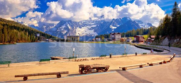 Meer alpen alpine landschap zuiden Stockfoto © xbrchx