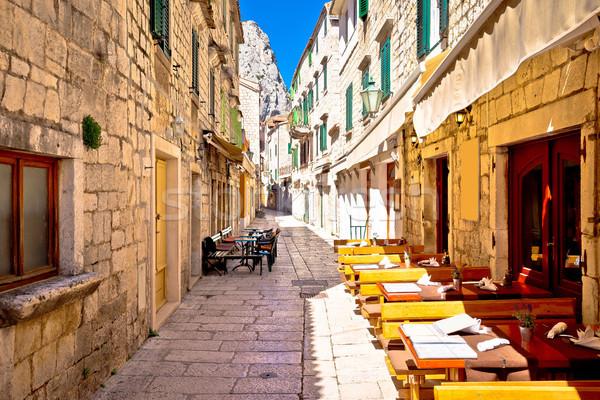 石 狭い 地中海 通り 地域 クロアチア ストックフォト © xbrchx