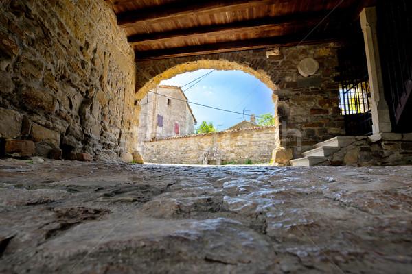 Old stone town gate of Roc Stock photo © xbrchx