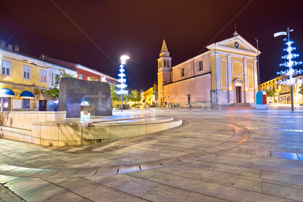 Porec street and square evening view Stock photo © xbrchx