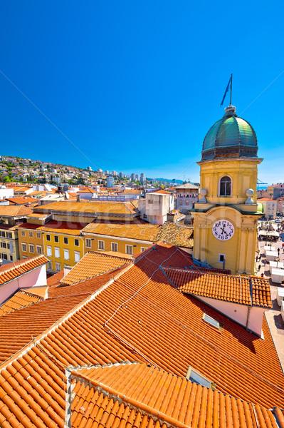 город часы башни центральный квадратный вертикальный Сток-фото © xbrchx