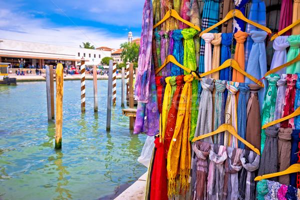 Colorido seda calle canal turísticos destino Foto stock © xbrchx