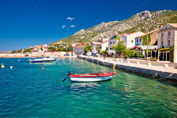 町 チャンネル 水辺 表示 海岸 クロアチア ストックフォト © xbrchx