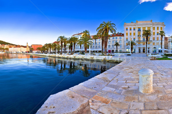 Split waterfront panoramic view from pier Stock photo © xbrchx