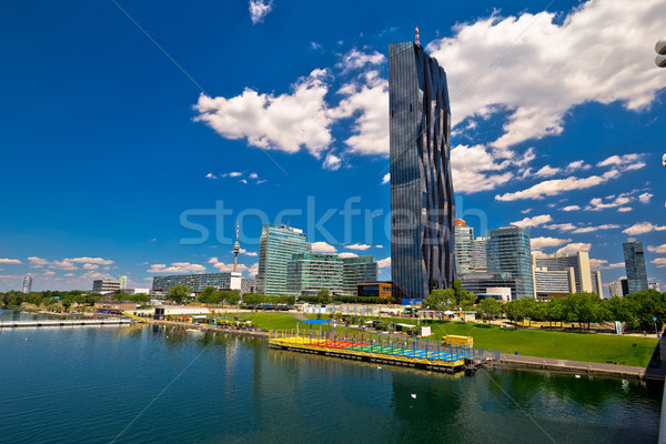Vienna Donaustadt financial and bussines district view Stock photo © xbrchx
