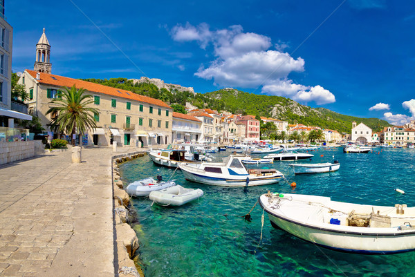 Scenic coast of town Hvar Stock photo © xbrchx