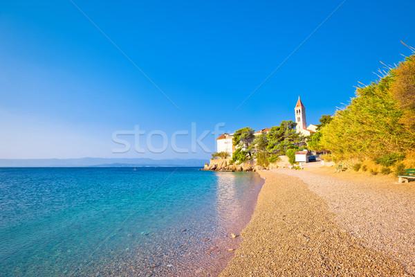 Mosteiro praia ilha céu edifício Foto stock © xbrchx