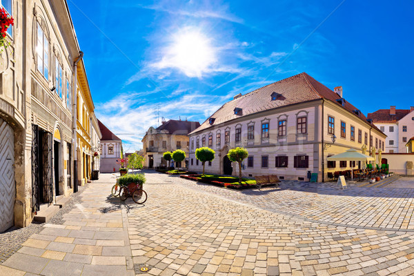 Baroque town of Varazdin square panoramic view Stock photo © xbrchx
