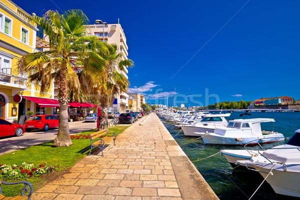 Town of Zadar waterfront view Stock photo © xbrchx