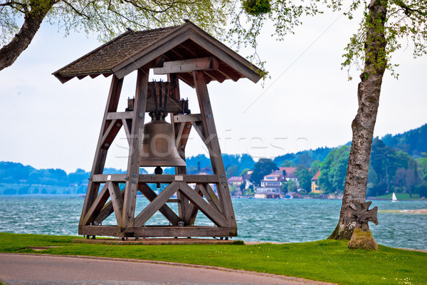 Bell by the tegernsee lake in Rottach Egern Stock photo © xbrchx