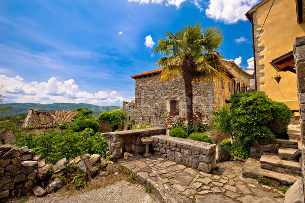 Town of Hum old mediterranean street Stock photo © xbrchx