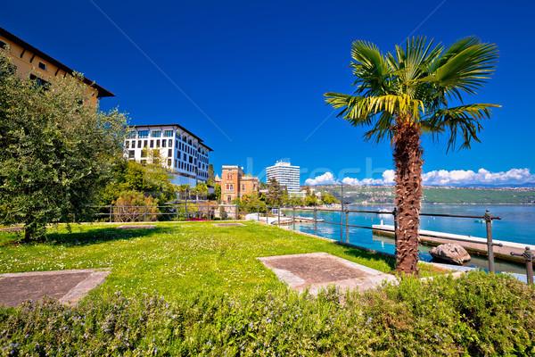 Luxury waterfront walkway in Opatija Stock photo © xbrchx