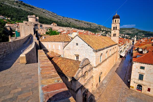 Dubrovnik murs vue sur la rue unesco monde patrimoine Photo stock © xbrchx