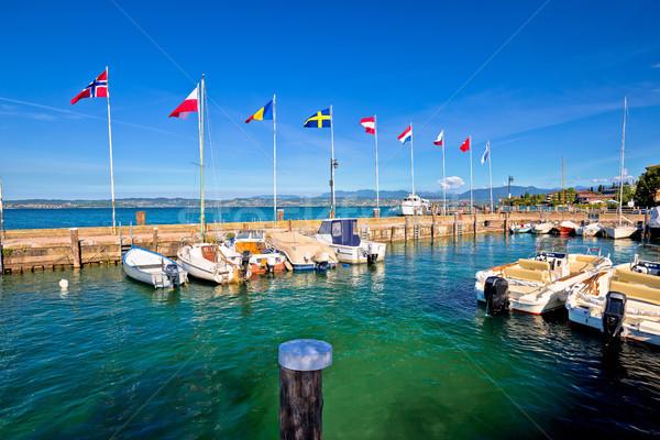 Lago di Garda harbor in Sirmione view Stock photo © xbrchx